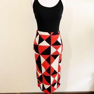 [H&M] patterned bandage skirt